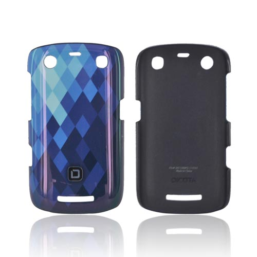 Original Dicota Blackberry Curve 9360 Hard Case, D30384 - Baby Blue/ Blue/ Dark Blue Diamonds