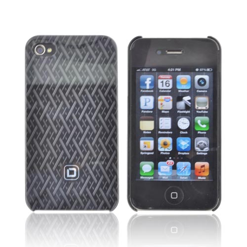 Original Dicota AT&T/ Verizon Apple iPhone 4, iPhone 4S Hard Case, D30442 - Black Woven Design