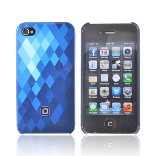Original Dicota AT&T/ Verizon Apple iPhone 4, iPhone 4S Hard Case, D30444 - Baby Blue/ Dark Blue Diamonds