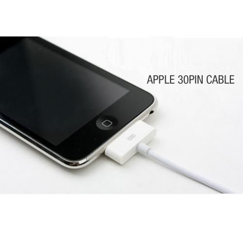 White Universal 3-in-1 Data Cable w/ iPhone 30 Pin, Micro USB, & Lightning Compatible Adapters [Charge Apple and Android devices all at the same time! No more fighting over who uses the charging station]