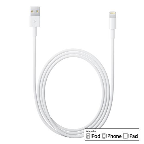 Apple White Lightning Connector Data Cable for iPhone 5/5S/5C iPod Touch 5/ iPad Mini - MFI Certified