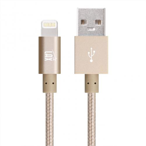 [Gold] Apple MFI Certified Lightning USB Cable 10 Feet Long w/ 1 Year Warranty