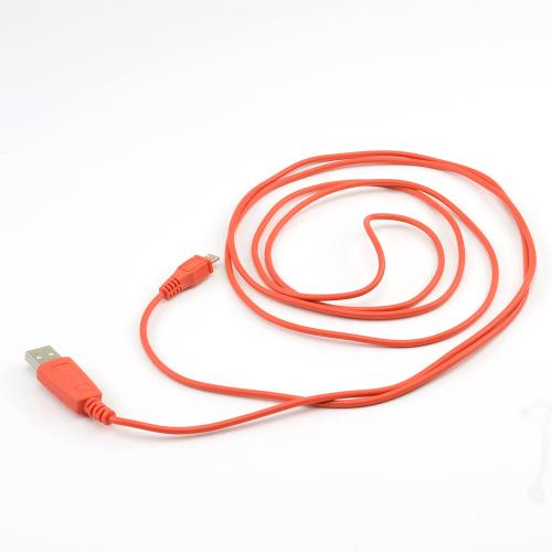 Outrageous Orange 6 ft. Micro USB to USB Charge & Sync Data Cable