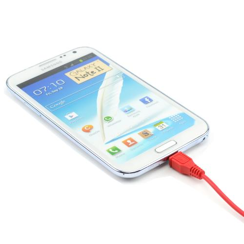 Radical Red 6 ft. Micro USB to USB Charge & Sync Data Cable