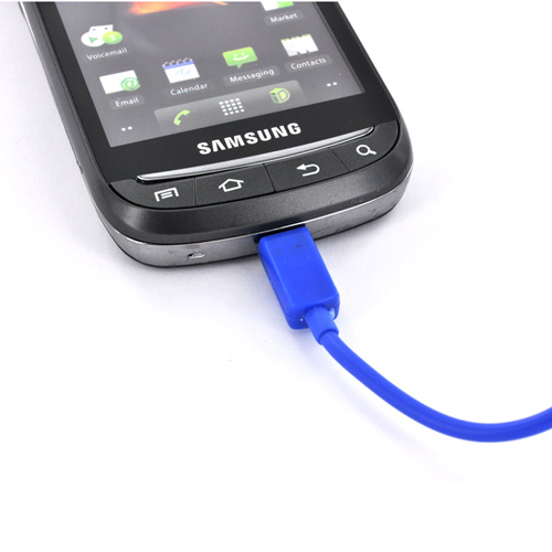 Universal USB to Micro USB Data Cable - Booster Blue