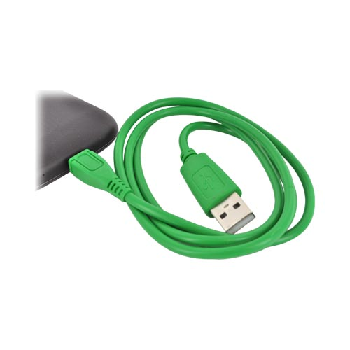 USB to Micro USB Data Cable - Geeky Green
