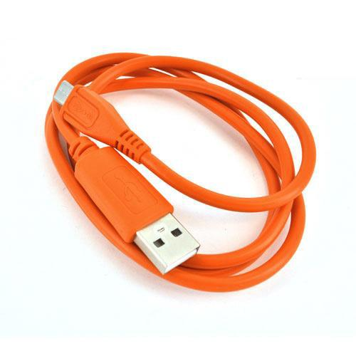 Universal USB to Micro USB Data Cable - Outrageous Orange