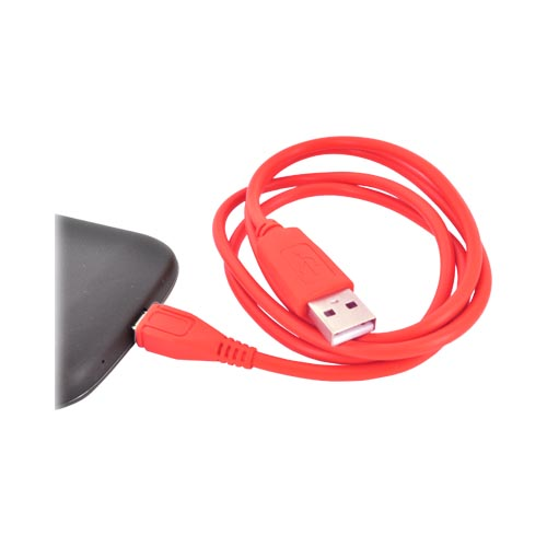 Universal USB to Micro USB Data Cable - Rad Red