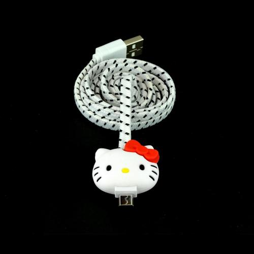 Hello Kitty White Micro USB Charge & Sync Data Cable