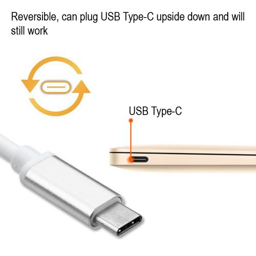USB Type-C OTG Adapter (USB Type-C To USB Type-A Adapter) [Silver]