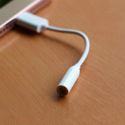 USB 3.1 Type C Male Adapter to 3.5mm Earphone Headset Cable Audio Adapter [White]