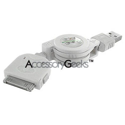 Retractable iPod/iPad USB Cable - Sync & Charge