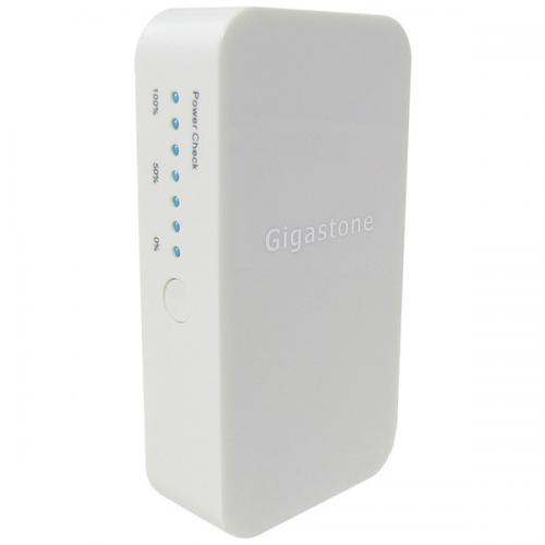 GIGASTONE GS-MPBP1-CH 5,200mAh Power Bank Universal Charger and USB charging cable