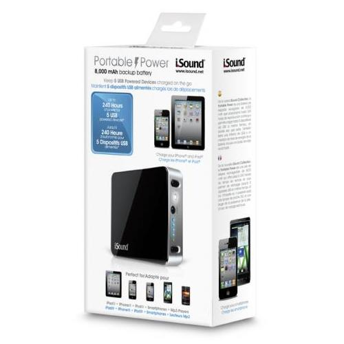 iSound Universal Apple iPad Micro/Mini USB Portable Charger - Black