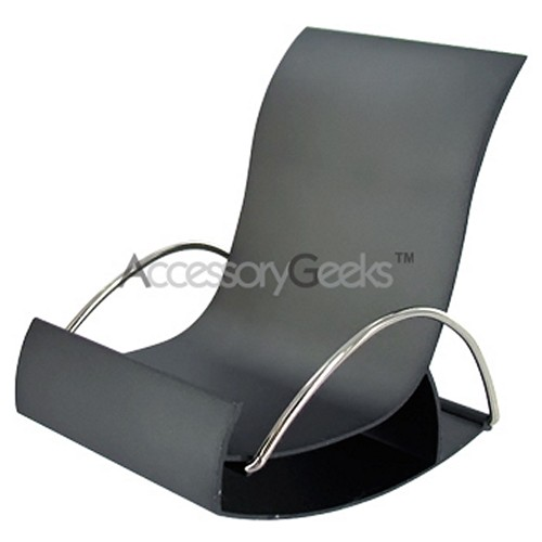 Metal Rocking Chair Cell Phone Holder - Dark Gray