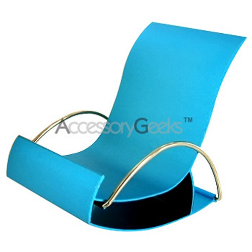 Metal Rocking Chair Cell Phone Holder - Teal Blue