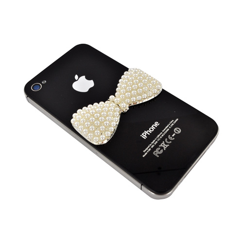 Cell Phone/ MP3/ Tablet Pearl Charm - White