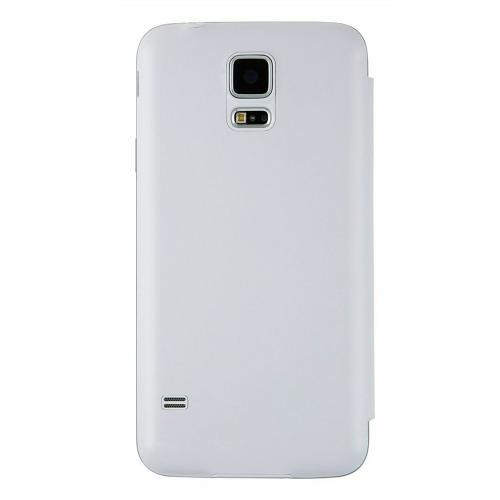 Anymode White View FlipCover Protective Hard Case w/ View Window for Samsung Galaxy S5