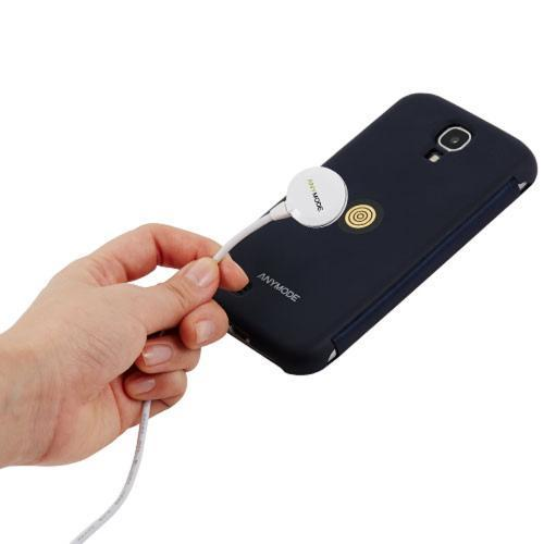 Anymode White Magnet Charging Hard Cover Case w/ Charging Cable for Samsung Galaxy S5