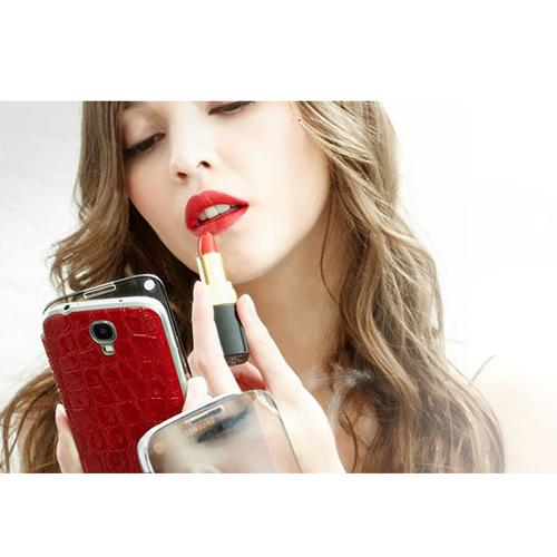Anymode Black Me-In Flipcover Case w/ Fashionable Mirror Cover for Samsung Galaxy S5