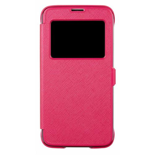 Anymode Hot Pink View FlipCase Protective Hard Case w/ View Window for Samsung Galaxy S5