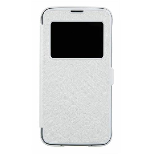 Anymode White View FlipCase Protective Hard Case w/ View Window for Samsung Galaxy S5
