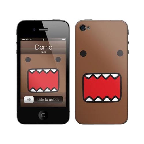 iPhone 4, iPhone 4S Music Skins Bundle Package w/ Domo Face & iPhone 4, iPhone 4S Clear Hard Case