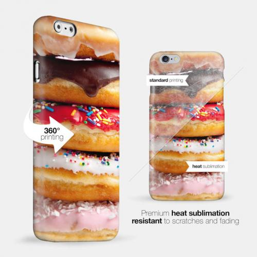 [Donut Stack] Custom Printed Heat Sublimation Design Hard Plastic Case Cover for Apple iPhone 5C w/ Free Screen Protector!