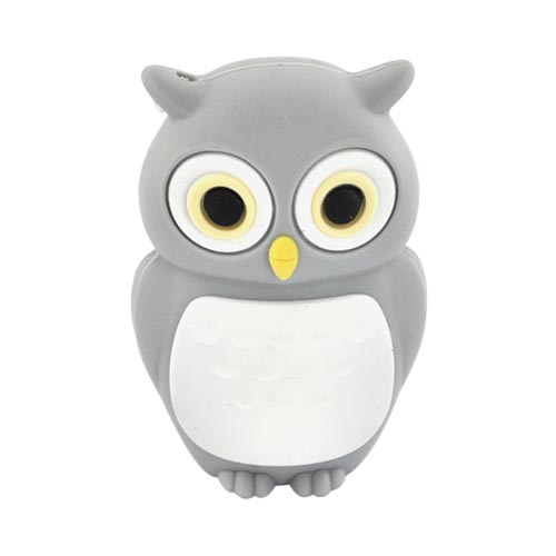 Original Bone Collection Universal USB Flash Drive, DR10021-4GR - Gray Owl (4GB)