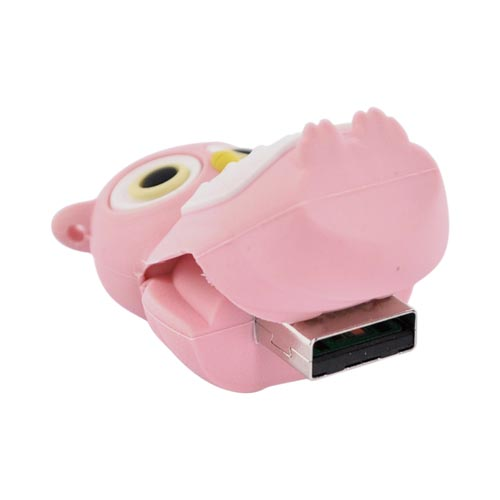 Original Bone Collection Universal USB Flash Drive, DR10021-4P - Pink Owl (4GB)