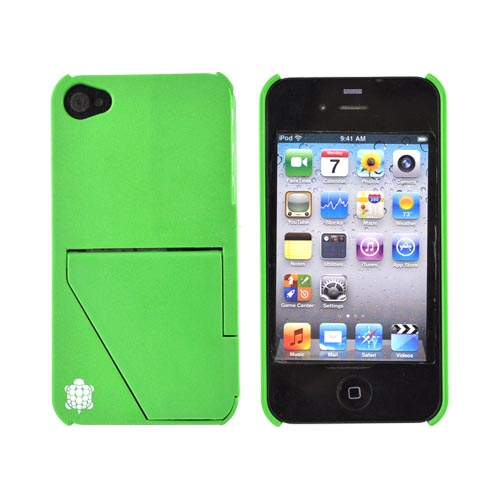 Original TRTL BOT Apple AT&T/ Verizon iPhone 4, iPhone 4S TRTL STAND Hard Case , DR2012GRN - Grass Green