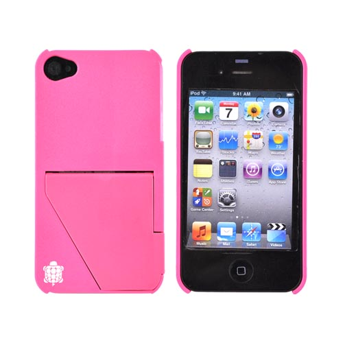 Original TRTL BOT Apple AT&T/ Verizon iPhone 4, iPhone 4S TRTL STAND Hard Case, DR2012PNK - Hot Pink