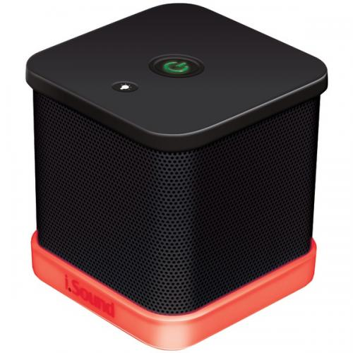 ISOUND ISOUND-6205 iGlowSound Cube Wired Portable Speaker (Black)