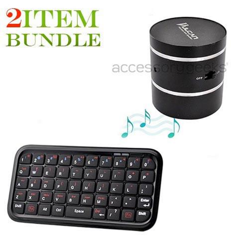 Motorola Droid X Bundle Package - Bluetooth Keyboard & Carrying Case & Vulcan Phantom Portable Speaker - (College Combo)