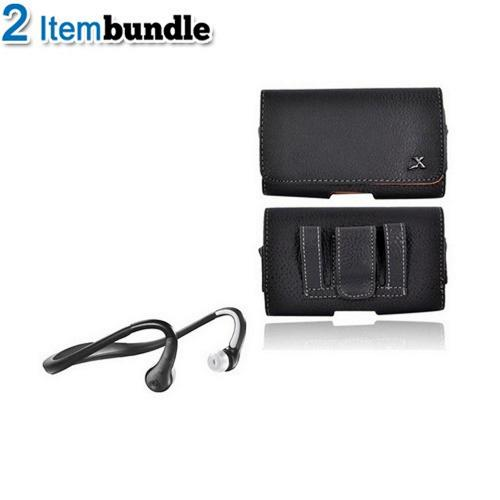 Motorola Droid X Bundle Package - Motorola S9-HD Stereo Bluetooth Headset & Leather Horizontal Pouch - (Athlete Combo)