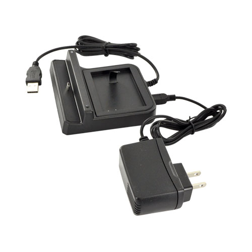 Blackberry Torch 9860, 9850 3-in-1 Cradle Desktop Sync n' Charge Phone/Battery Charger - Black