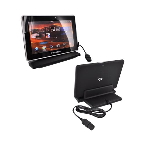 Blackberry Playbook 2-in-1 Cradle Desktop Sync n'Charge Charger - Black