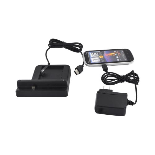 HTC Amaze 4G 3-in-1 Cradle Desktop Sync n'Charge Phone/ Battery Charger - Black