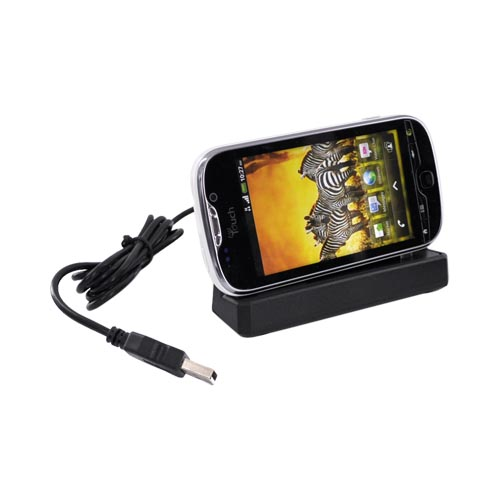 T-Mobile MyTouch 4G 3 in 1 Cradle Desktop Sync n' Charge Phone/Battery Charger - Black