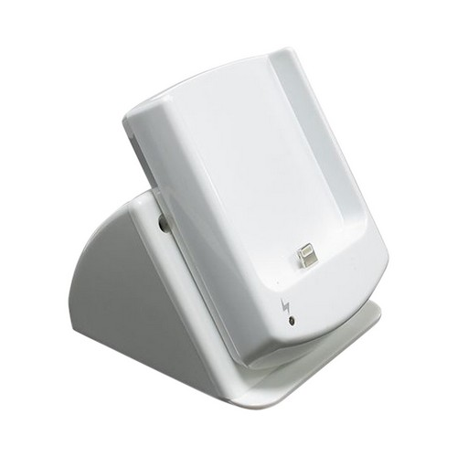 Rotating Charge and Sync Cradle w/ Micro USB Data Cable & Wall Adapter for Apple iPhone 5 - White