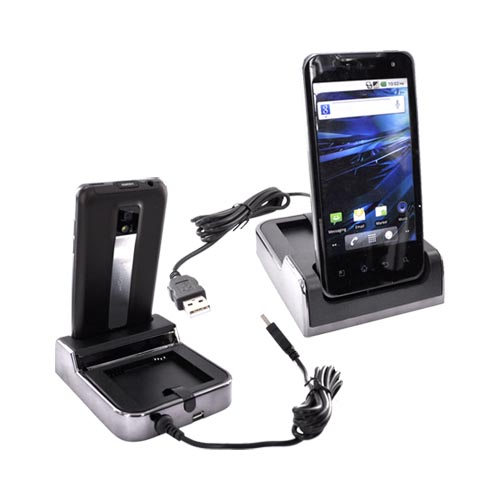 T-Mobile G2X 3-in-1 Cradle Desktop Sync n'Charge Phone/ Battery Charger - Black