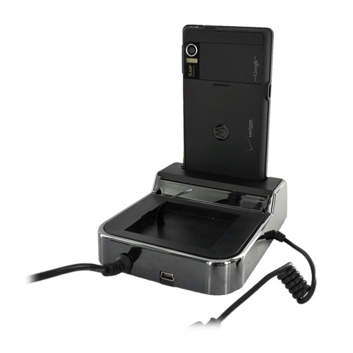 Motorola Droid A855 / Milestone Twin Cradle Desktop Phone/Battery Charger - Black