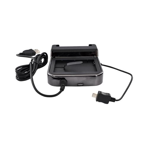 Motorola Atrix 4G Twin Cradle Charge n' Sync Desktop Charger - Black