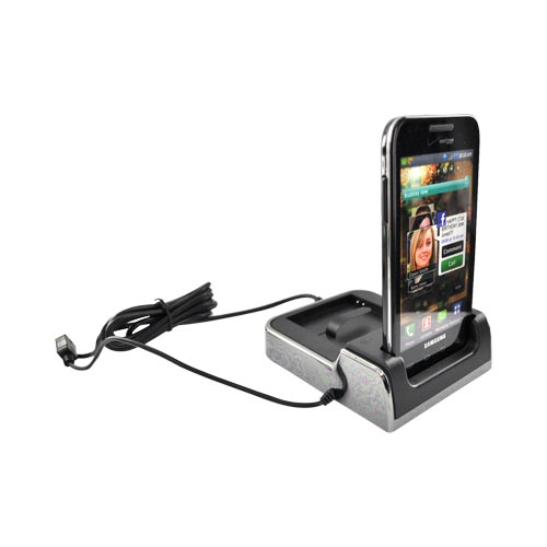 Samsung Fascinate i500 Twin Desktop Charge n' Sync Cradle - Black