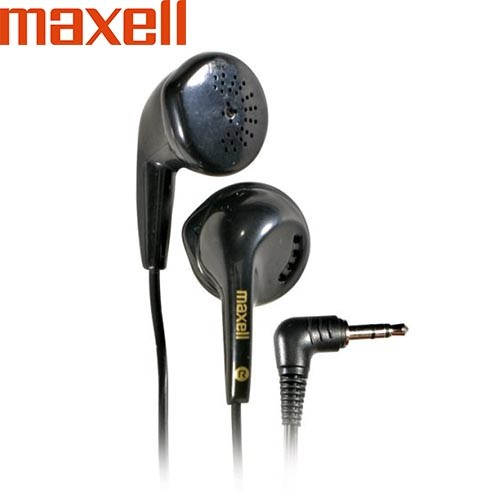 Original Maxell Stereo Earbuds - Black (3.5mm)