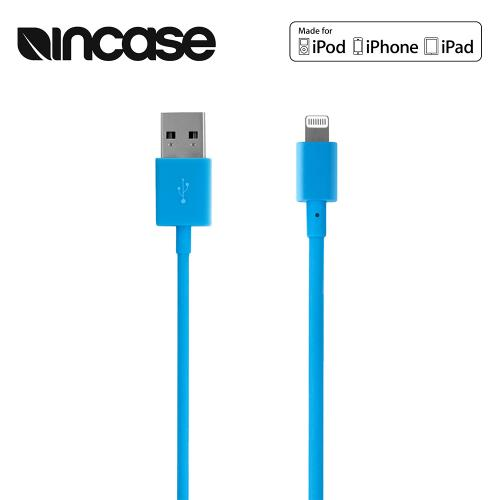 "Blue Incase Apple MFI Certified Lightning Compatible to USB Charge & Sync Data Cable (6""/1.52m)"