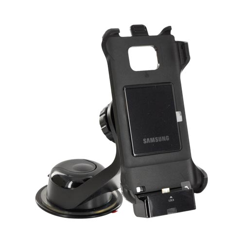 Original AT&T Samsung Galaxy S2 Vehicle Navigation Mount w/ Micro USB Car Charger & 3.5 mm Audio Out Port, ECS-V1D3BEGSTA - Black