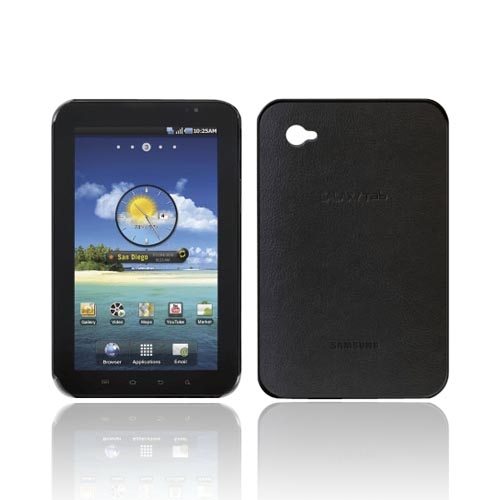 Original Samsung Galaxy Tab P1000 Leather Molded Snap-On Case, EF-C980CBEGSTA - Black