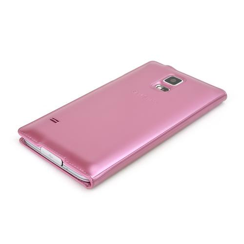 Samsung Pink S-View Flip Carrying Plastic Case w/ IC Chip for Samsung Galaxy S5 - Dirt, Crack, & Smudge Resistant!