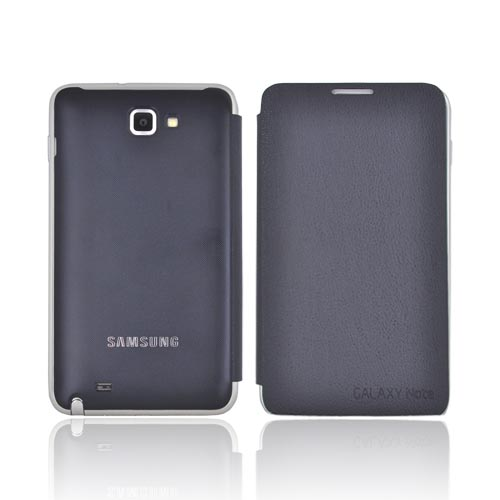 Original Samsung Galaxy Note Protective Flip Case, EFC-IECBEGSTA - Dark Navy Blue